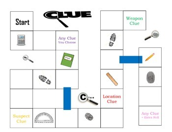 image about Printable Clue Game Sheets known as Math Clue Match Board