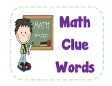 Math Clue Word Posters