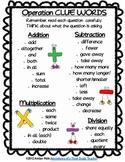 Math Clue Words Activities {FREEBIE}