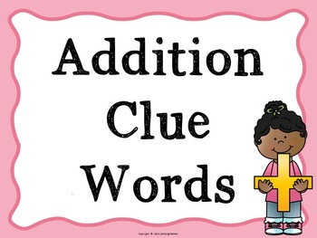 Math Clue Words Addition, Subtraction, Multiplication, Division