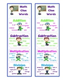 Math Clue Words Bookmarks