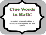 Math Clue Words Posters