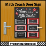 Math Coach Poster, Printable Door Sign, End of the Year Gift NOT EDITABLE