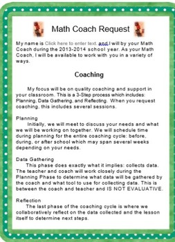 Math Coaching Packet
