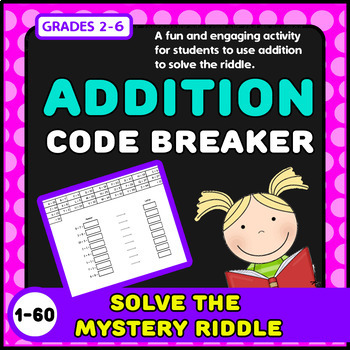 MATH CODE BREAKERS! {ADDITION}{CRYPTOGRAPHY}