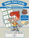 Math- Coin Cards: Identifications & Value