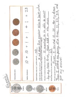 Math - Coins - Addition - Critical Thinking for Common Core