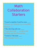 Math Collaboration Sentence Frames