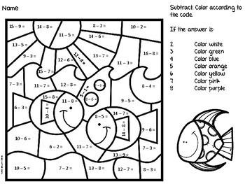Math Color By Number Set