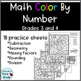 Math Color By Number Set