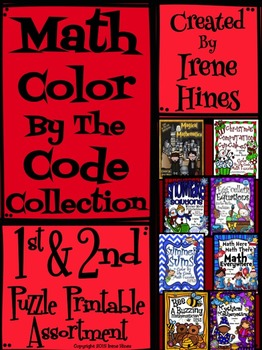Math Color By The Code Collection ~ First & Second Grade Puzzle Assortment