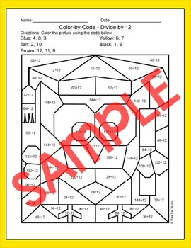 Owl Graduate Math Color by Code Coloring Page - End of Year Activities
