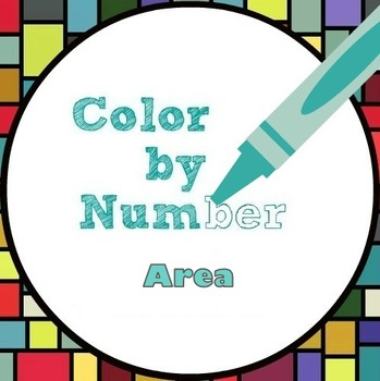 Math Color by Number - 6th Grade Area Fun!