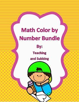 Math Color by Number Bundle