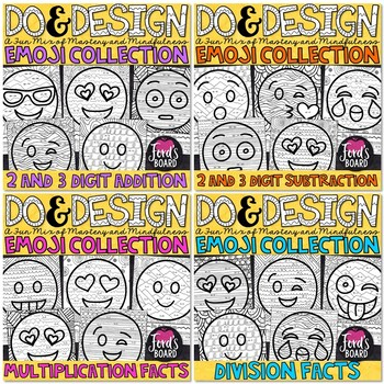 Math Color by Number Bundle | Do and Design 3