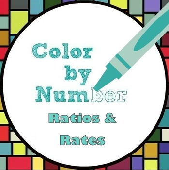 Math Color by Number - Ratio and Rate Fun