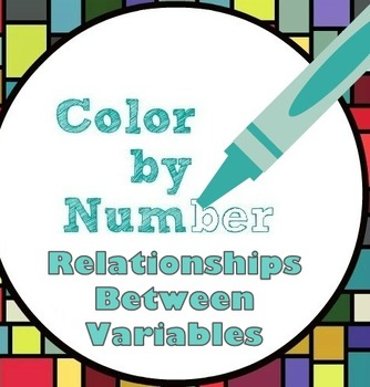 Math Color by Number - Relationships between Variables - Fun!