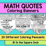 Math Coloring Banner