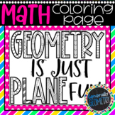 Math Coloring Page   Geometry is Just Plane Fun