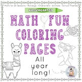 Kindergarten PreK Math Fun COLORING PAGES! connect the dots, WODB, how many?