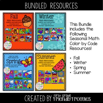 Math Color Sheets Spring Teaching Resources | Teachers Pay Teachers