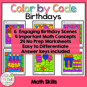 Math Coloring Sheets For Birthdays Addition And Subtraction To 20