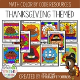 Math Coloring Sheets for Thanksgiving
