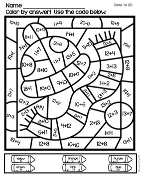 Math Coloring Sheets Color by