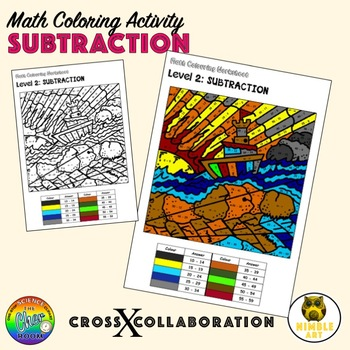 Math Coloring Worksheet: Subtraction