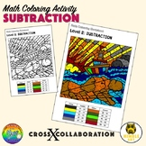 Math Coloring Worksheet: Subtraction