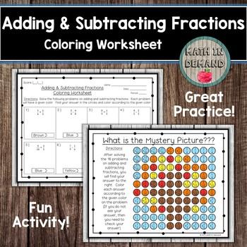 Math Coloring Worksheets Bundle
