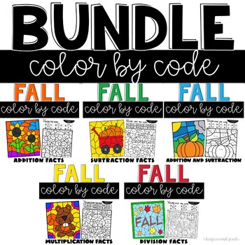 Math Color by Number Fall