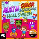 Math, Colors, Scissors - 001 - Halloween - 2nd grade - Com