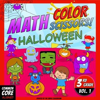 Math, Colors, Scissors - 001 - Halloween - 3rd grade - Com