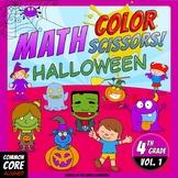 Math, Colors, Scissors - 001 - Halloween - 4th grade - Com
