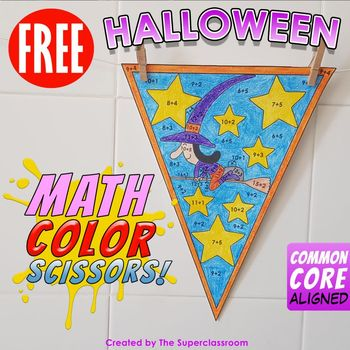 Math, Colors, Scissors - 001 - Halloween - FREE - Common C