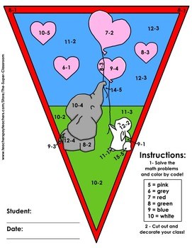 Math, Colors, Scissors - 004 - Valentine´s Day - FREE - Common Core Aligned