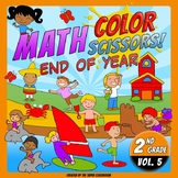 Math, Colors, Scissors - 005 - End of Year - 2nd grade - Common Core Aligned