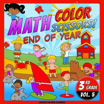 Math, Colors, Scissors - 005 - End of Year - 3rd grade - C