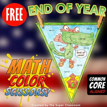 Math, Colors, Scissors - 005 - End of Year - FREE - Common Core Aligned