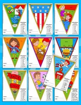 Math, Colors, Scissors - 006 - Back to School - 2nd grade - Common Core Aligned