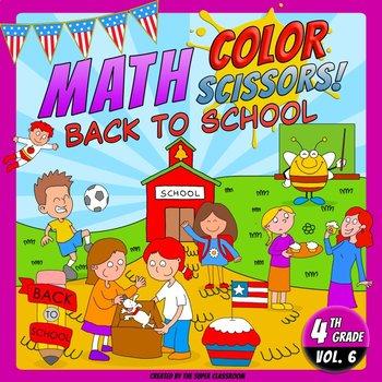 Math, Colors, Scissors - 006 - Back to School - 4th grade - Common Core Aligned