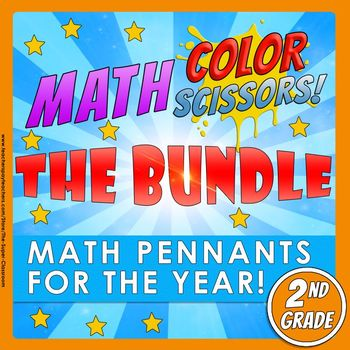 Math, Colors, Scissors-The Bundle-2nd_grade-Common_Core_Aligned