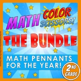 Math, Colors, Scissors-The Bundle-2nd_grade-Common_Core_Aligned