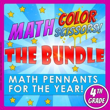 Math, Colors, Scissors-The Bundle-4th_grade-Common_Core_Aligned
