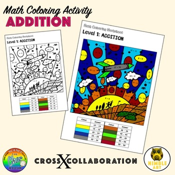 Math Colouring Worksheet: Addition, Subtraction, Multiplication and Division