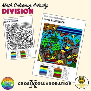 Math Colouring Worksheet: Division