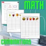Math Combinations (permutations) Worksheet   Dollar Deal