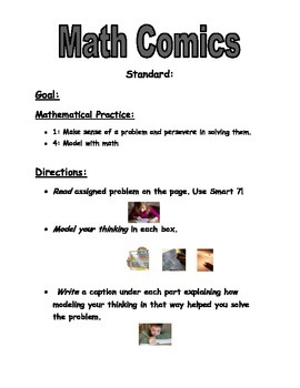 Math Comic Center Directions