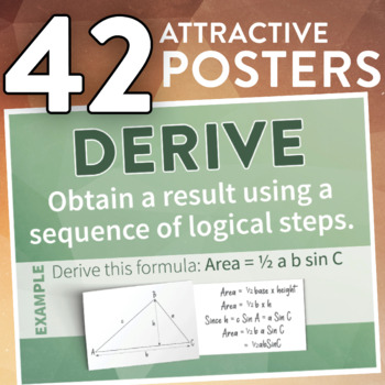Math Command Terms (POSTERS)